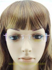 BAI DA BETA TITANIUM  ไร้กรอบแว่นตาสีชมพู ขาแว่นสีชมพู
