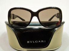 BVLGARI กรอบแว่นกันแดด Acetate Frame สีดำ เลนส์สีดำ