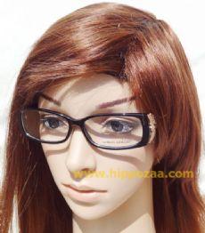 GIORGIO ARMANI  กรอบแว่นตา Acetate สีดำ  ขาแว่น Stainless สีทอง