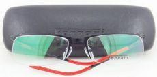Ferrari ครึ่งกรอบแว่นตา Stainless Frame สีดำ ขาแว่นสีดำ