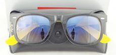 RAY-BAN  RB2140 1000/32 WAYFARER  กรอบแว่นกันแดดสีดำ/เหลือง เลนส์ไล่สีฟ้า