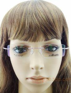 Silhouette Beta Titanium ß502  ไร้กรอบแว่นตาสีชมพู ขาแว่นสีชมพู