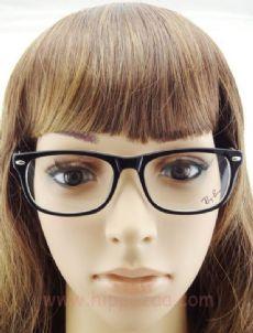 RAY-BAN กรอบแว่นตา Acetate Frame สีทูโทนดำ/พื้นขาวอักษรสีแดง