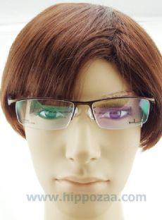 bL eyewear ครึ่งกรอบแว่นตา frame brown