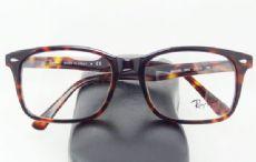 RAY-BAN กรอบแว่นตา Acetate Frame สีน้ำตาลกระ ขาแว่นสีน้ำตาลกระ