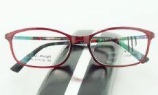 JP EYEWEAR TR90 frame กรอบแว่นตาสีไวน์แดง ขาแว่นสีกระ