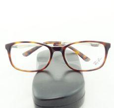 RAY-BAN กรอบแว่นตา Acetate Frame สีน้ำตาลกระ ขาแว่นสีทองอ่อน