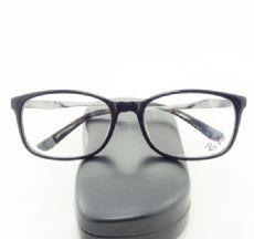 RAY-BAN กรอบแว่นตา Acetate Frame สีดำ ขาแว่นสีเงินอ่อน