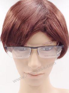 PORSCHE DESIGN ครึ่งกรอบแว่นตา Titanium Frame สีดำ ขาแว่นสีบรอนซ์เทา
