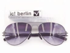 แว่นตากันแดด ic! berlin model samstag frame gun metal
