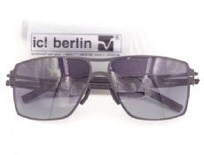 แว่นตากันแดด ic! berlin model rashid frame black