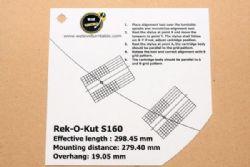 แผ่น PVC Set Up หัวเข็ม Rek-O-Kut S160 (New)