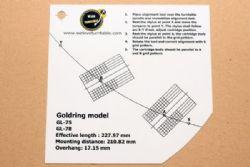 แผ่น PVC Set Up หัวเข็ม Goldring GL 75/78 (New)
