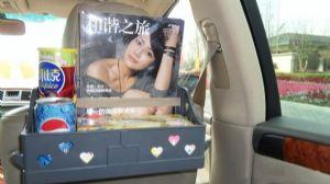 กล่องใส่ของในรถติดหลังเบาะ