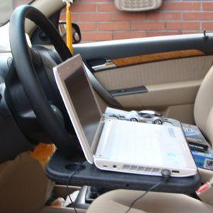 โต๊ะ smart table ติดตั้งกับพวงมาลัยรถยนต์