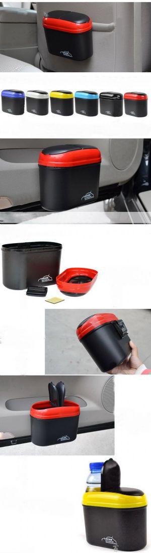 2-in-1 ถังขยะและที่วางขวดเครื่องดื่มในรถยนต์
