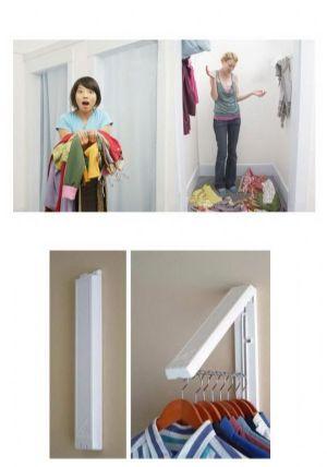 ของใช้ในบ้าน : ที่แขวนผ้าพับเก็บได้สวยงาม