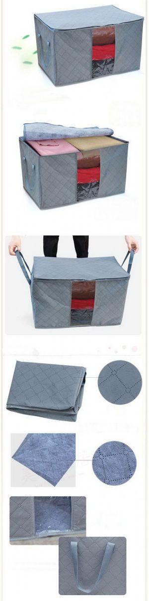 กระเป๋าเก็บเสื้อผ้าวัสดุใยไผ่ size M