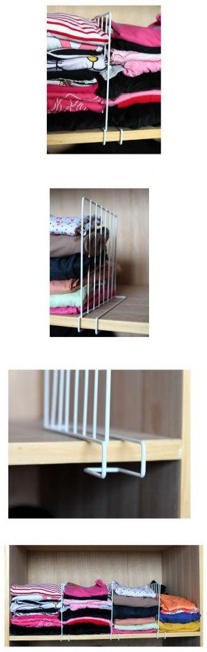 ของใช้ในบ้าน : ชุดโครงเหล็กกั้นสำหรับจัดเก็บเสื้อผ้า (3 ชิ้น/set)