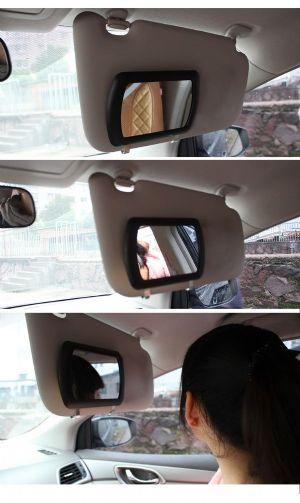 ของใช้ในรถ : กระจกเงา clip-on visor