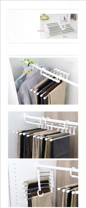 ของใช้ในครัวเรือน : ไม้แขวนกางเกง magic rack