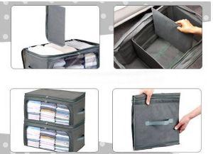 ของใช้ในบ้าน : กระเป๋าจัดเก็บเสื้อผ้าแบบฝาเปิด 2 ด้าน (size L)