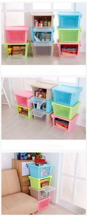 ของใช้ในบ้าน : กล่องใส่เก็บของอเนกประสงค์ฝาเปิด 2 ด้าน