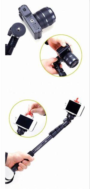 monopod แขนจับกล้องถ่าย selfie ใช้ได้ทั้งมือถือและกล้อง