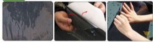 ของใช้ในรถ : ม่านบังแดดสติกเกอร์สูญญากาศ electrostatic (2ชิ้น)
