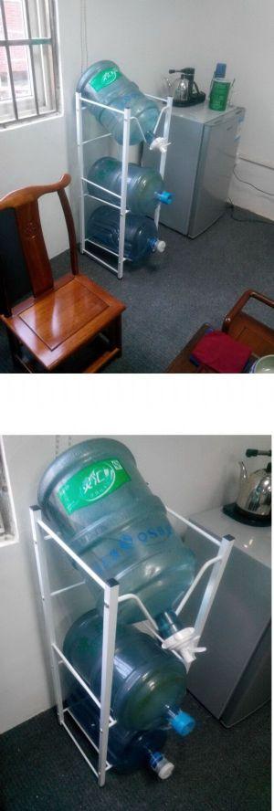 ชั้นวางถังน้ำแกลลอน 3 ชั้นพร้อมหัวจ่ายน้ำ