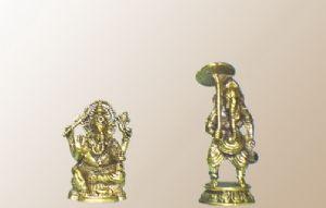 รูปปั้นทองเหลือง ปางประทานพร และ ปางเดินทางค้าขาย