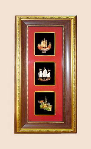 ของพรีเมี่ยมกรอบ3ช่องเอกลักษณ์ไทย  ชุดเรือ