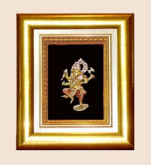 กรอบทองพระพิฆเนศ ปางศิลปะร่ายรำ