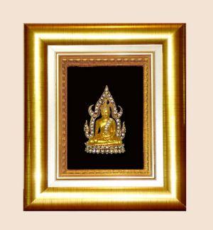 ของที่ระลึกกรอบทอง ลายพระพุทธชินราช