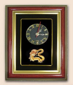 ของพรีเมี่ยมกรอบนาฬิกาลายมังกรทอง