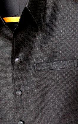 เสื้อผ้าฝ้ายลายลูกแก้วสีดำ