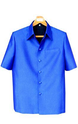 เสื้อผ้าฝ้ายลายลูกแก้วสีน้ำเงินเข้ม