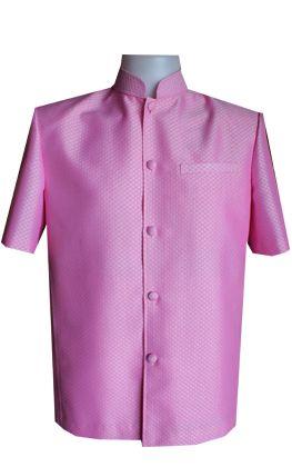 เสื้อผ้าฝ้ายลายลูกแก้วสีชมพุ