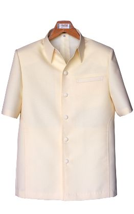 เสื้อผ้าฝ้ายลายลูกแก้วสีครีมเหลือง