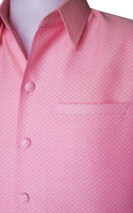 เสื้อผ้าฝ้ายลายลูกแก้วสีโอรส