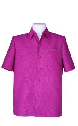 เสื้อผ้าฝ้ายลายลูกแก้วสีม่วงเม็ดมะปราง