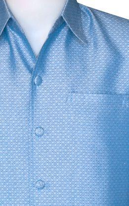 เสื้อสูทชายลายลูกแก้วสีฟ้าอ่อน