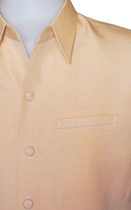 เสื้อผ้าฝ้ายทอมือผ้าพื้นสีน้ำตาลอ่อน