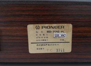 เครื่องเล่นแผ่นเสียง Pioneer ED-770 PL