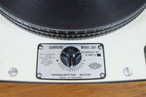 เครื่องเล่นแผ่นเสียง Garrard 301 (โทนอาร์ม 12 นิ้ว SME 3012)