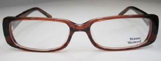 Vivienne Westwood กรอบแว่นตา Acetate Frame สีน้ำตาล  ขาแว่นสีน้ำตาล