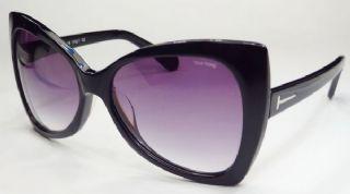 TOM FORD กรอบแว่นกันแดด Acetate Frame สีดำ  เลนส์ไล่สีดำ