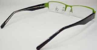 Calvin Klein  ครึ่งกรอบแว่นตา Stainless Frame สีเขียว ขาแว่นสีดำ