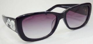 CHANEL กรอบแว่นกันแดด Aetate Frame สีดำ  เลนส์ไล่สีม่วง
