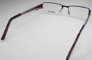 CARRERA  ครึ่งกรอบแว่น Stainless Frame สีดำ ขาแว่นสีเงิน-ดำ-แดง